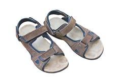 Brown Climbing Sandals. Brown Climbing Sandals For Men Royalty Free Stock Photography