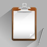 Brown clipboard Royalty Free Stock Photos
