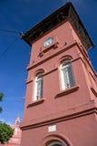 Brown clock tower stock photos