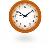 Brown clock Royalty Free Stock Images