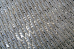 Brown close up of a basket weave background Stock Image