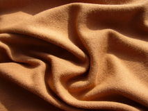 Brown cloth. Royalty Free Stock Images