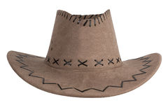 Brown cloth cowboy hat Royalty Free Stock Photos