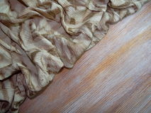 Brown cloth with drawings Royalty Free Stock Images