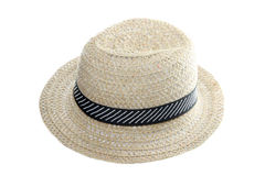 Brown cloth hat isolated. Royalty Free Stock Photo