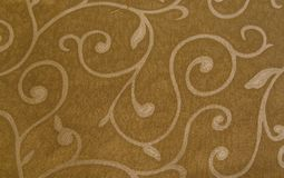 Brown cloth with pattern texture. Closeup of brown cloth with pattern texture Royalty Free Stock Photo