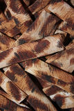 Brown cloth roll design Royalty Free Stock Photography