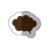 Brown cloud chat bubble icon Royalty Free Stock Photo