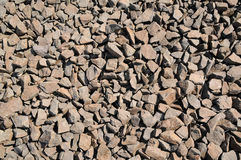 Brown clunky stones Stock Photography