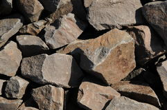 Brown clunky stones Royalty Free Stock Photo