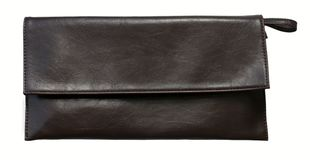 Brown clutch bag Royalty Free Stock Photography
