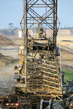 Brown coal digger bucket wheel Stock Photos