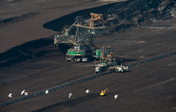 Brown Coal Mine In Poland Stock Images