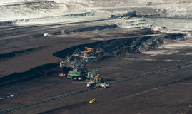 Brown Coal Mine in Poland Royalty Free Stock Images