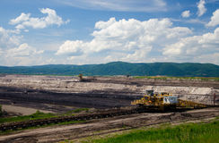 Brown coal mining Stock Image