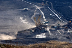 Brown coal open cast mining Royalty Free Stock Image