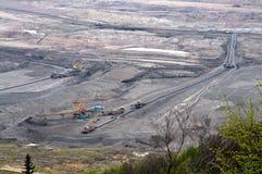 Brown coal open cast mining royalty free stock photos