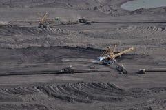 Brown coal open cast mining Stock Image