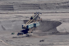 Brown coal open cast mining Stock Images