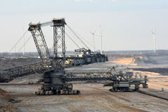 Brown coal open cast mining Royalty Free Stock Photography
