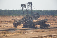 Brown coal open cast mining hambach germany Royalty Free Stock Images