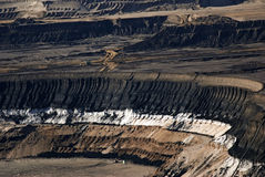 Brown coal open mining Stock Image