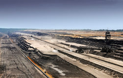 Brown coal open mining Stock Photo