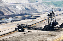 Brown coal open mining Royalty Free Stock Photos