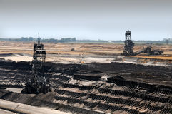 Brown coal open mining Royalty Free Stock Photography