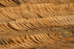 Brown coal open mining. A Brown coal open mining royalty free stock images