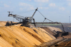 Brown coal open mining Stock Images