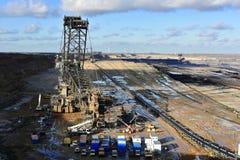 Brown coal open mining Royalty Free Stock Photos