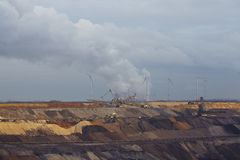 Brown coal - Opencast mining Garzweiler (Germany) Stock Photography