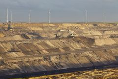 Brown coal - Opencast mining Garzweiler (Germany) Royalty Free Stock Photos