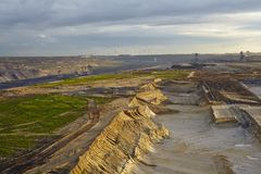 Brown coal - Opencast mining Garzweiler (Germany) Royalty Free Stock Image