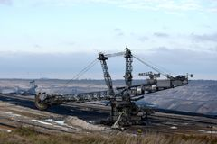 Brown coal opencast mining  Royalty Free Stock Photo