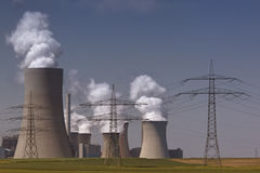 Brown coal power plant Royalty Free Stock Photo