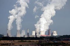 Brown coal power plant Royalty Free Stock Image