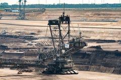 Brown Coalmining czerparka Zdjęcie Stock
