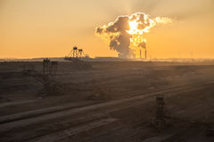 Brown coalmining maszyneria Obraz Royalty Free
