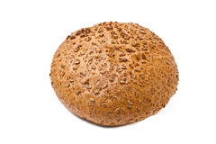 Brown coarse grinding round bread Stock Image
