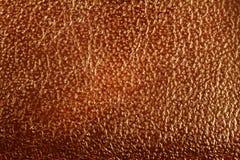 Brown cobre o fundo da textura, fim acima da vista Fotografia de Stock