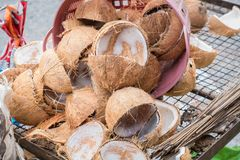 Brown coconut shell Stock Photography