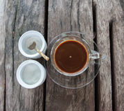 Brown coffee Stock Images