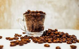 Brown coffee aroma refreshing to life as the background. stock images
