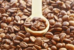 Brown coffee, background texture, close-up Stock Photography