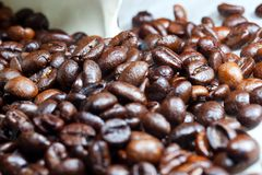 Brown coffee, background texture, close-up Royalty Free Stock Image