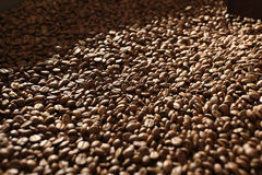 Brown coffee, background texture Stock Images