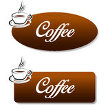 Brown coffee banners Stock Photo