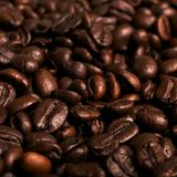 Brown coffee beans background Stock Photos